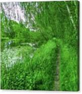 Along Creek #g1 Canvas Print