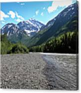 Along Eagle River- Eagle River, Alaska Canvas Print