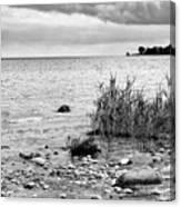 Along Lake Huron Cloudy Day Canvas Print