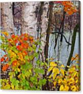 Along The Breezeway In Autumn 2014 Canvas Print