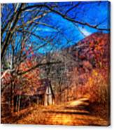 Along The Country Lane Canvas Print