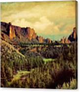 Along The Crooked River Canvas Print