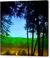 Along The Muddy River Canvas Print