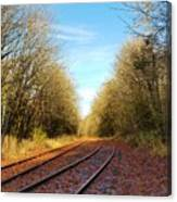 Along The Old Railroad  Canvas Print