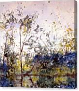 Along The River Bank Canvas Print