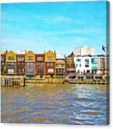 Along The River Thames Canvas Print
