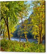 Along The Shenandoah River Canvas Print