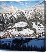 Alpbach Winter Landscape Canvas Print