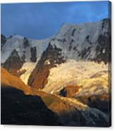 Alpenglow On The Swiss Alps Near Murren Canvas Print