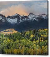 San Juan Mountains Fall Colors Sunrise Canvas Print
