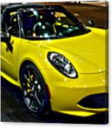 Alpha Romeo 4c Spider Canvas Print
