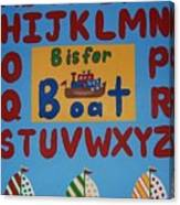 Alphabet Boat Canvas Print