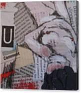 Alphabet Nude U Canvas Print
