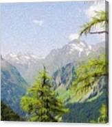 Alpine Altitude Canvas Print