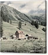 Alpine Farm Canvas Print