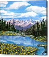 Alpine Lake Colorado Usa Canvas Print