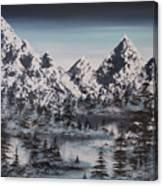 Alpine Peaks Canvas Print