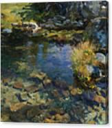 Alpine Pool Canvas Print