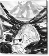 Alpine River Canvas Print