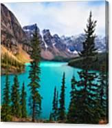 Alpine Scenic Moraine Lake Alberta Canada Canvas Print