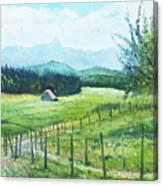 Alps From Geneva Switzerland 2016 Canvas Print