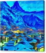 Alps Of Switzerland - Pa Canvas Print
