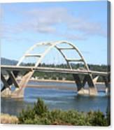 Alsea Bridge II Br-7005 Canvas Print