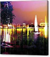 Alster In The Evening Canvas Print