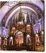 Alter Inside Basilica Of Notre Dame, Montreal, Quebec, Canada. Canvas Print