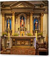 Alter Of The Mission San Buenaventura Canvas Print