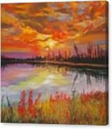 Alton Mill Summer Sunset Canvas Print