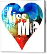 Always Kiss Me Goodnight 6 - Valentine's Day Canvas Print