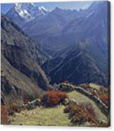 Ama Dablam Nepal In November Canvas Print