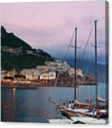 Amalfi Harbor Sunset Canvas Print