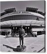 Amalie Arena Black And White Canvas Print