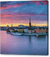 Dramatic Sunset Over Stockholm Canvas Print