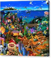 Amazing Coral Reef Canvas Print