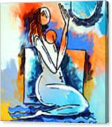 Ameeba- Nude Woman On Beach 5 Canvas Print