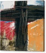 Amen Contemporary Cross- Art By Linda Woods Canvas Print