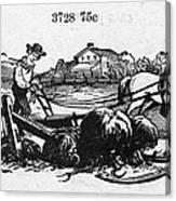 America: Farming, C1870 Canvas Print
