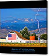 America The Beautiful Poster Canvas Print