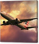 American Airlines 767 N345an Canvas Print