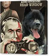 American Akita Art Canvas Print - Rear Window Movie Poster Canvas Print