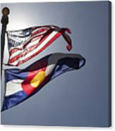 American And Colorado Flags Canvas Print