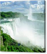 American And Niagra Falls At Niagra Canvas Print