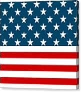 American Beach Towel Canvas Print