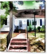 American Beautiful House Canvas Print