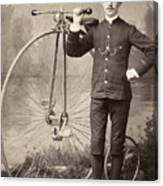 American Bicyclist, 1880s Canvas Print