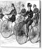 American Bicyclists, 1879 Canvas Print