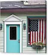 American Curtain  Canvas Print